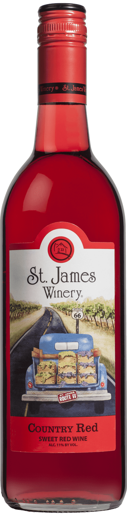 Country Red Sweet Wine - St. James Winery Missouri