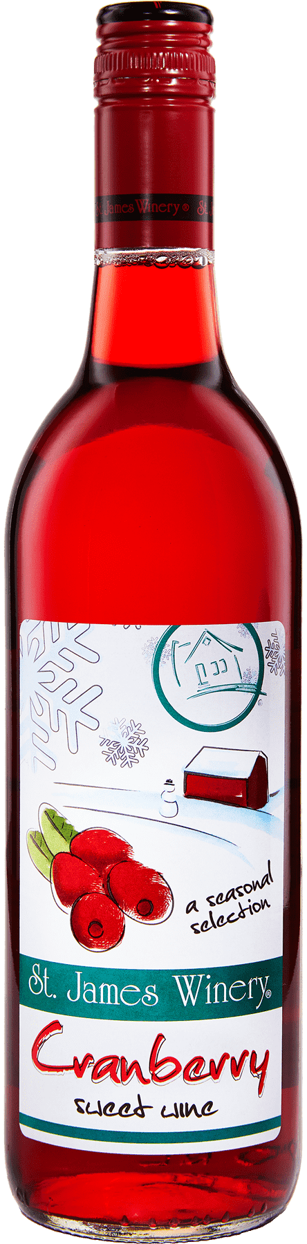 Cranberry Sweet Wine - St. James Winery Missouri