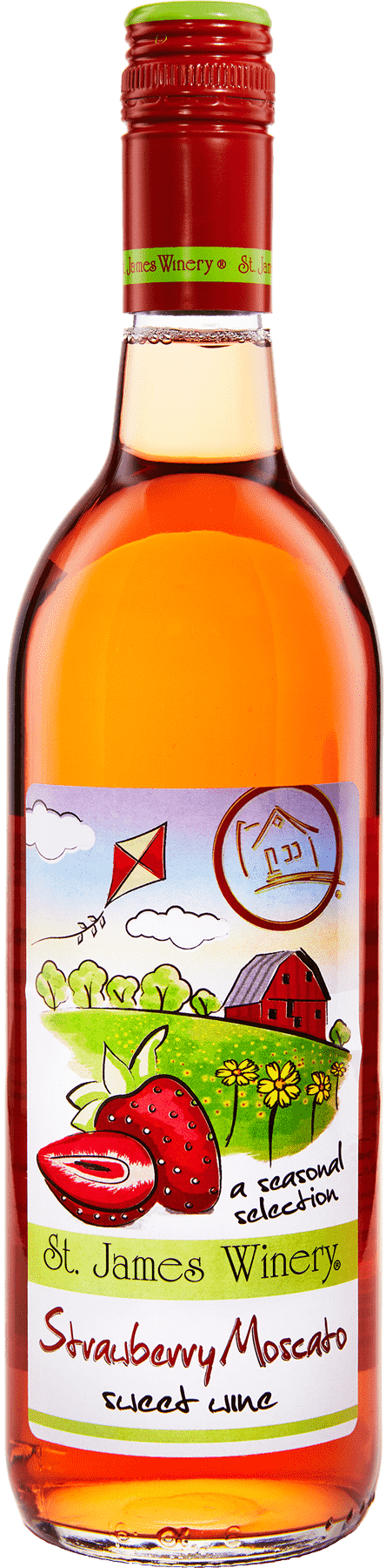 Strawberry Moscato Sweet Wine - St. James Winery Missouri