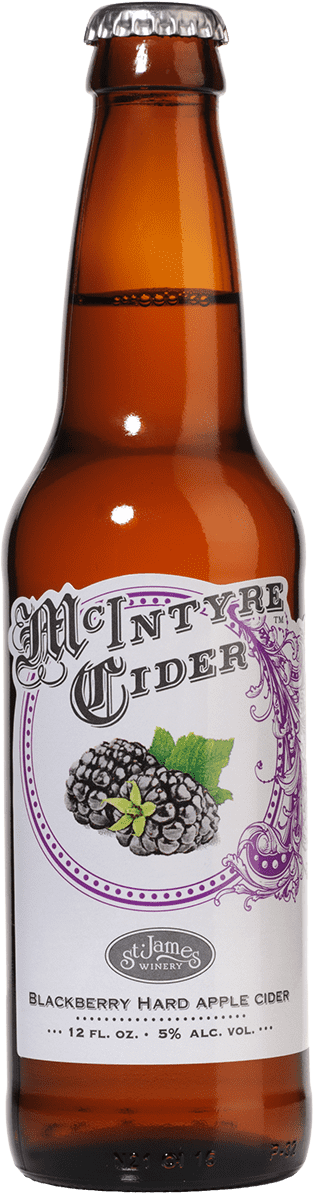 Blackberry Hard Apple Cider - McIntyre Cider - St. James Winery Missouri
