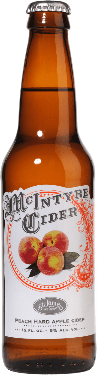 Peach Hard Apple Cider - McIntyre Cider - St. James Winery Missouri
