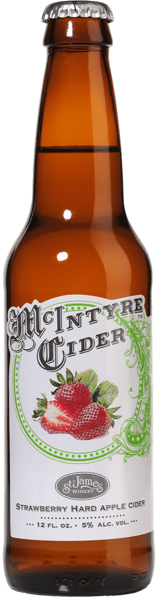 Strawberry Hard Apple Cider - McIntyre Cider - St. James Winery Missouri