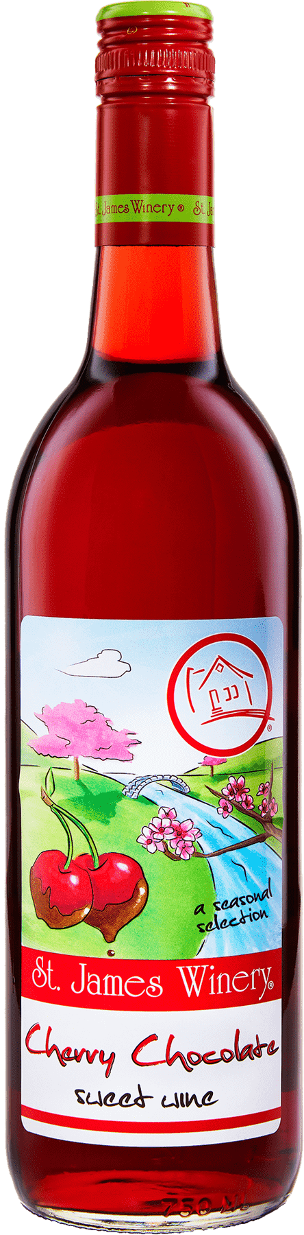 Cherry Chocolate Sweet Wine - St. James Winery Missouri