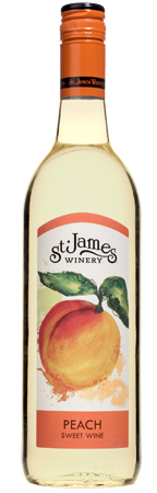 Award Winning Peach Wine St James Winery