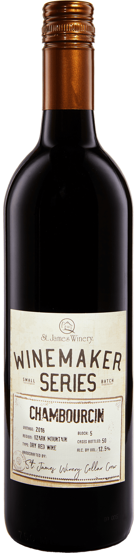 Chambourcin Winemaker Series Dry Red Wine - St. James Winery Missouri