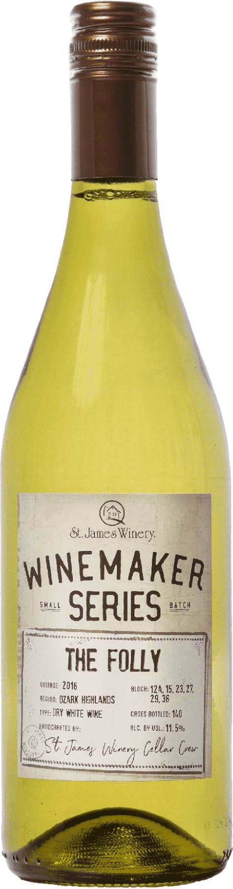 The Folly Winemaker Series Dry White Wine - St. James Winery Missouri
