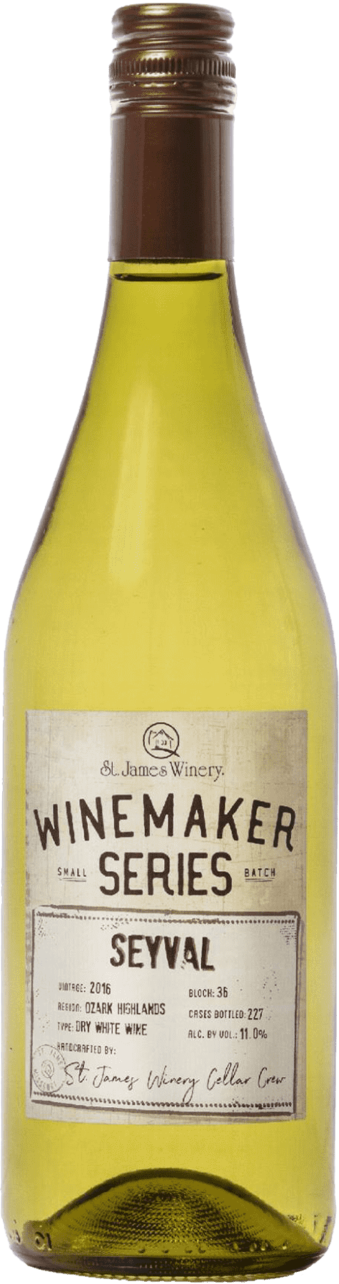 Seyval Winemaker Series Dry White Wine - St. James Winery Missouri