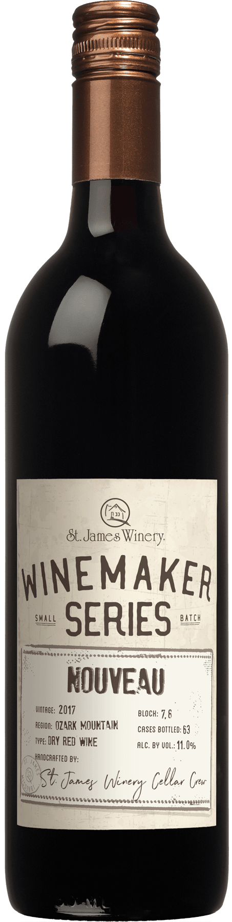 Nouveau 2017 Winemaker Series Dry Red Wine - St. James Winery Missouri