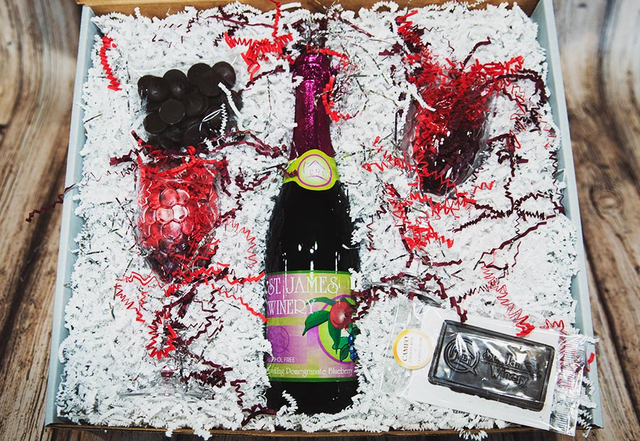 St. James Sweeties Sparkling Raspberry Juice Gift Box - 