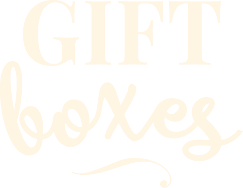 Gift Boxes text graphic - St. James Winery Missouri