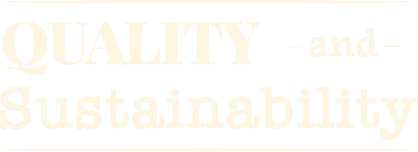 Quality and Sustainability text graphic - St. James Winery Missouri